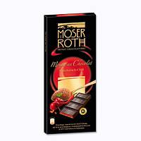 Шоколад Moser Roth черный с перцем и вишней 187,5 г.