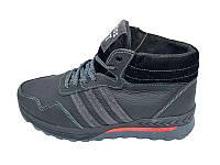 Мужские кроссовки нат.кожа зимние Cross Fit Stael 43 Black Gray размеры: 40 41 42 43 44 45