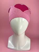 Демисезонная шапка на резинке для девочки