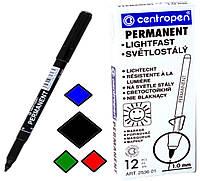Маркеры Centropen (тонкие) для бумаги, кожи, пластмассы, металла 12шт.уп