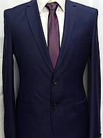 Фиолетово-синий приталенный мужской костюм  Luco Tone
