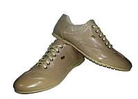 Кроссовки GT бежевые натуральная кожа на шнуровке