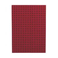 Блокнот Paper-Oh Quadro B5 Червоний на Чорному в Лінію (17,6х25 см) (OH9056-4) (9781439790564)
