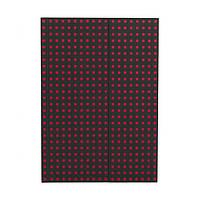 Блокнот Paper-Oh Quadro B5 Чорний на Червоному в Лінію (17,6х25 см) (OH9050-2) (9781439790502)