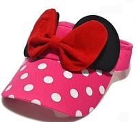 Детская кепка бейсболка козырек Микки Маус Розовый