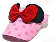 Детская кепка бейсболка козырек Микки Маус Светло розовый
