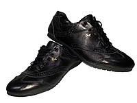 Кроссовки GT черные натуральная кожа на шнуровке