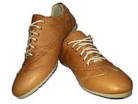 Кроссовки GT коричневые натуральная кожа на шнуровке, фото 1