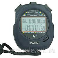 Секундомер электронный водостойкий Sprinter 2810 с 10 этапами памяти, будильником, календарем