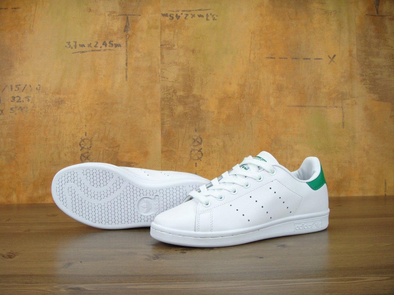 Женские кроссовки Adidas Stan Smith White/Green, фото 1
