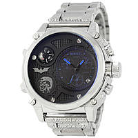 Мужские наручные часы Diesel Steel Brave 2221 Silver-Black-Blue, кварцевые, элитные часы Дизель Стил Брейв