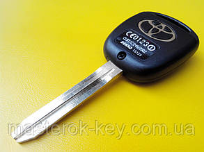 Заготовка автомобильная с местом под 3 кнопки Toyota