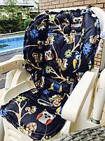 Матрасик в стульчик для кормления/коляску (синий с якорями/синий с совами)