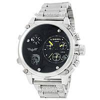 Мужские наручные часы Diesel Steel Brave 2221 Silver-Black-Yellow, кварцевые, элитные часы Дизель Стил Брейв
