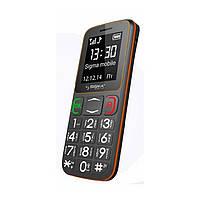 Телефон кнопочный на 2 сим карты бабушкофон Sigma Comfort 50 mini3 серо-оранжевый
