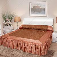 Покрывало с рюшами на кровать Ретро 180*200.