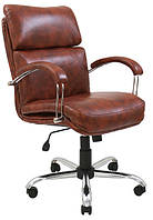 Кресло Дакота Хром механизм Tilt подлокотники Пластина, кожзаменитель Флай Спот-2221S (Richman ТМ)