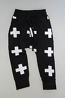 Демисезонные стильные штанишки черного цвета. Размер 104 см