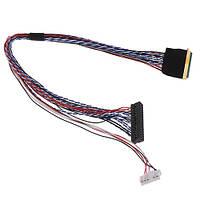 Кабель шлейф LVDS I-PEX 40pin 2канала 6бит для ЖК матриц 15.6-19