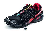 Кроссовки мужские Salomon Speedcross 3, черные с красным, р. 41 42 43 44 45, фото 1