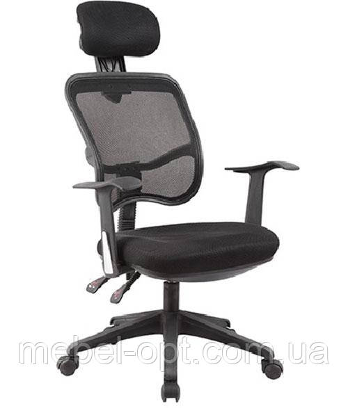 Кресло офисное для персонала и дома Бриз черное