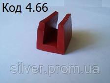 Термостойкий силиконовый уплотнитель П профиль под 10мм