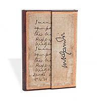 Блокнот Paperblanks Рукописи Ганди Мини в Линейку (10х14 см) (PB2568-9), фото 1