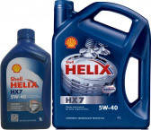Моторное масло Shell Helix HX7 5W-40