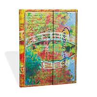 Блокнот Paperblanks Рукописи Моне Мост Большой в Линейку (18х23 см) (PB1939-8), фото 1