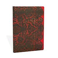Блокнот Paperblanks Кружева Красный Средний в Линейку (13х18 см), фото 1