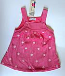 Комплект Теплый сарафан и кофта с длин. рукавом Розовый Белый Bubble Турция, фото 3
