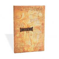 Блокнот Paperblanks Замальовки Леонардо Середній з Чистими листами (13х18 см) (PB1609-0), фото 1