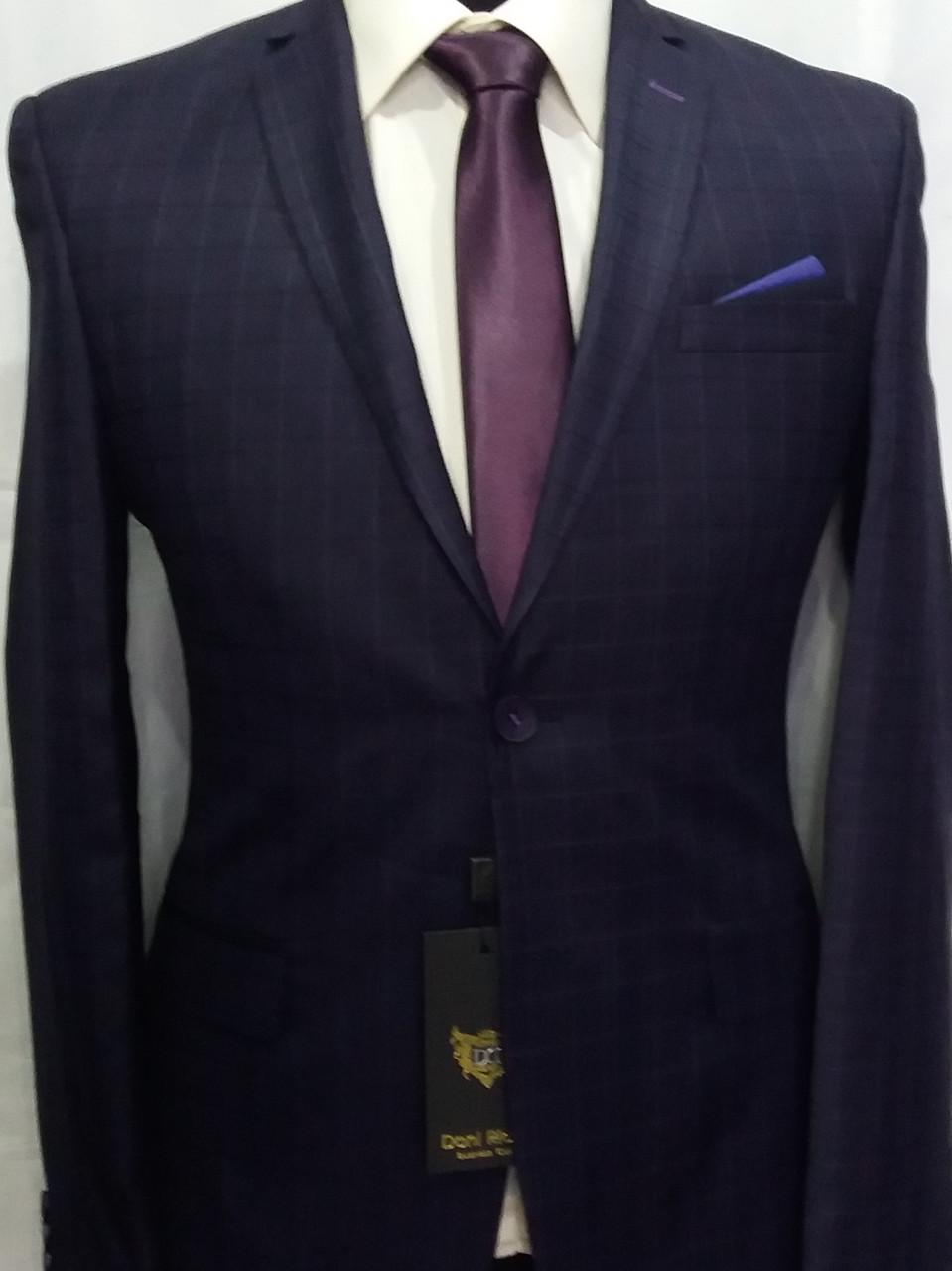 Комбинированный мужской костюм цвета баклажан Doni Ricce - ИНТЕРНЕТ-МАГАЗИН  MR DIMAX в Одессе 4bc83ba89f2