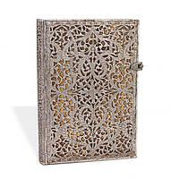 Блокнот Paperblanks Серебряная филигрань Натураль Средний с Чистыми листами (13х18 см) (PB1930-5), фото 1