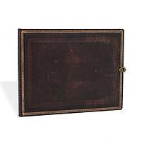 Блокнот Paperblanks Старая кожа Чёрная марокканская Гостевая книга в Линейку (18х23 см) (PB2604-4), фото 1