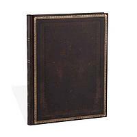 Блокнот Paperblanks Старая кожа Чёрная марокканская Классическая Большой в Линейку (18х23 см) (PB3511-4), фото 1