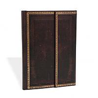 Блокнот Paperblanks Старая кожа Чёрная марокканская Средний в Линейку (13х18 см) (PB8393), фото 1