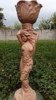 """Мраморная скульптура для сада и дачи """"Мавка""""  (красный)"""