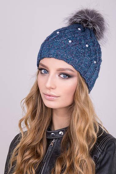 Женская шапка Жемчуг