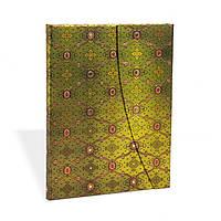Блокнот Paperblanks Французкий шёлк Зелень Большой в Линейку (18х23 см) (PB2215-2), фото 1