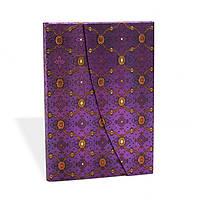 Блокнот Paperblanks Французкий шёлк Фиалка Средний в Линейку (13х18 см) (PB2221-3), фото 1