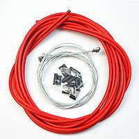 Комплект тросиков/рубашек Jagwire CEX/LEX, тормоза+переключатели, красный