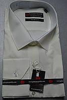 Молочная (айвори) приталенная рубашка GUISEPPE GENTILE (размеры S.M.L.XL.XXL)
