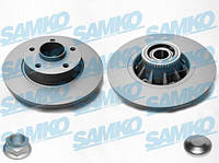 Диск тормозной задний (+подшипник/+кольцо ABS) Trafic2/VivaroA  SAMKO