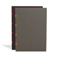Блокнот Paper-Oh Сahier Circulo А4 с Чистыми листами Черный с Красным и Серый с Оранжевым (2 шт.) (A4)