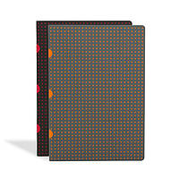 Блокнот Paper-Oh Сahier Circulo А5 с Чистыми листами Черный с Красным и Серый с Оранжевым (2 шт.) (A5)