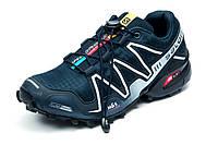 Кроссовки мужские Salomon Speedcross 3, темно-синие с серым, р. 41 42 43 44 45
