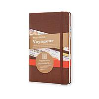 Блокнот Moleskine Вояжер Средний 208 страниц Коричневый в Тканевой обложке (13х21 см), фото 1