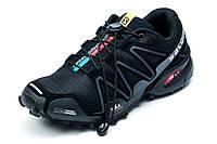 Кроссовки мужские Salomon Speedcross 3, черные с серым, р. 41 42 43 44 45