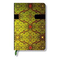 Блокнот Paperblanks Французкий шёлк Мини в Линейку Зелень (10х14 см) (PB5750)